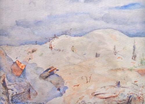 MINIAC_Alexandre,_aquarelle_des_Hurlus_(Marne),_lors_de_la_première_guerre_mondiale. (2).jpg